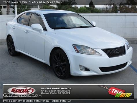 white lexus is 250 2008 starfire white pearl 2008 lexus is 250 black interior