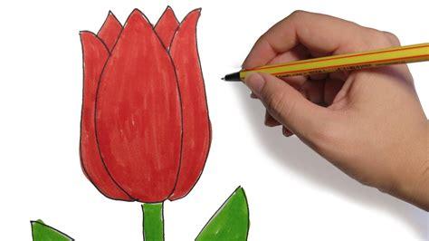 imagenes de un flores como dibujar flores tulipan facil paso a paso youtube