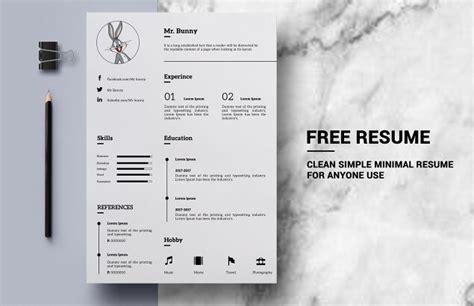 simple resume template psd free clean simple resume template psd titanui
