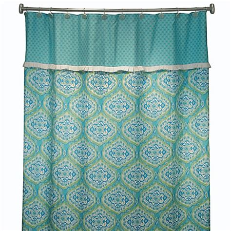 turquoise curtains for sale tangier 72 quot x 72 quot shower curtain in turquoise bed bath