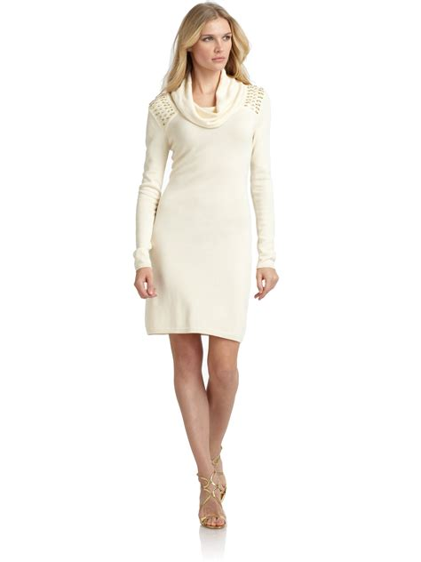 Dress Of The Day White Hoodie Dress by Lyst Marc New York Embellished Sweater Dress In White