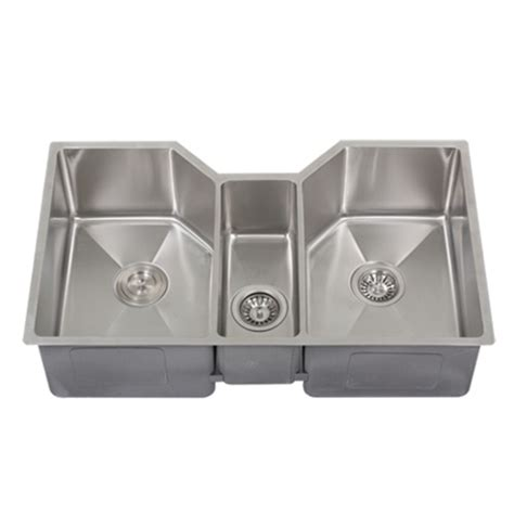 ticor tr1500 undermount stainless bowl square