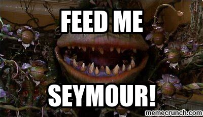 feed me seymour meme tepid drama derrick proves once more that she is the