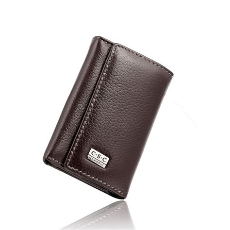 Alis Leather Pouch by Small Slim Wallets Brown Cowhide Genuine Leather Purse