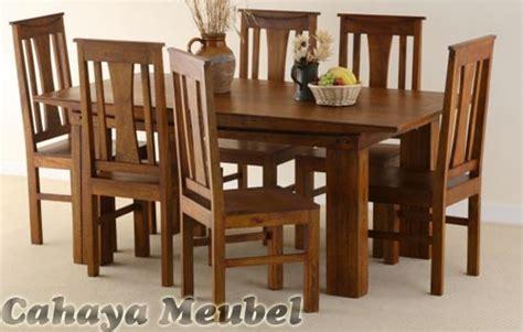 Meja Makan Jati Meja Makan Mebel Jepara set kursi makan minimalis jati mebel jepara set meja makan minimalis kayu jati cahaya mebel