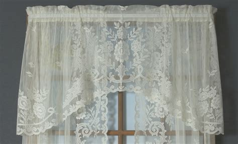 lace curtains irish irish point lace crescent valance thecurtainshop com