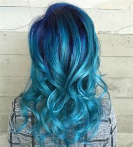 mermaid colored hair 27 blue ombre hair color ideas mermaid will