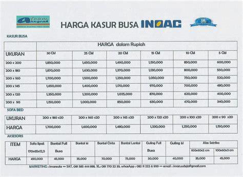Kasur Busa Big Foam Terbaru harga kasur busa dan sofa bed inoac aneka produk foam inoac