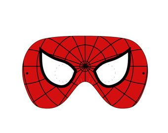 printable mask of spiderman best photos of spider man mask template spider man