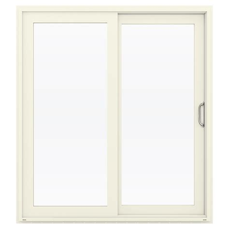 Shop Jeld Wen V 4500 71 5 In 1 Lite Glass French Vanilla Vinyl Patio Doors
