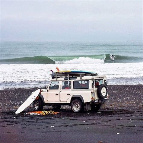 beach jeep surf everything the defender 110 the boards the beach