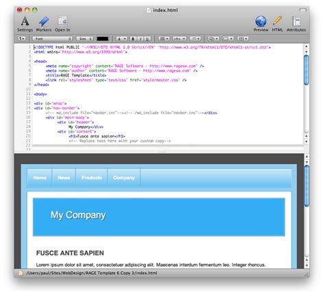 layout editor for mac os x webdesign download the mac html editor webdesign for