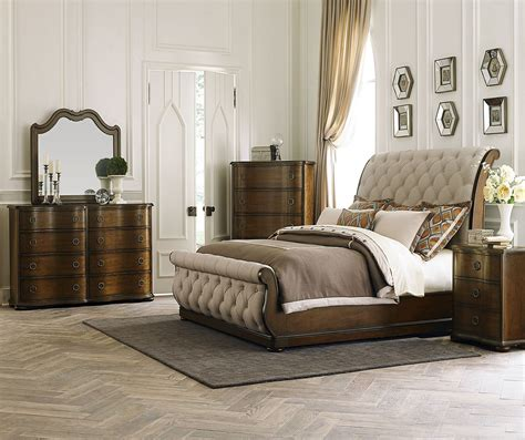 sleigh bedroom furniture sets cotswold upholstered sleigh bedroom set from liberty 545