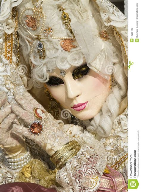 beautiful mask  carnival  venice stock photo image
