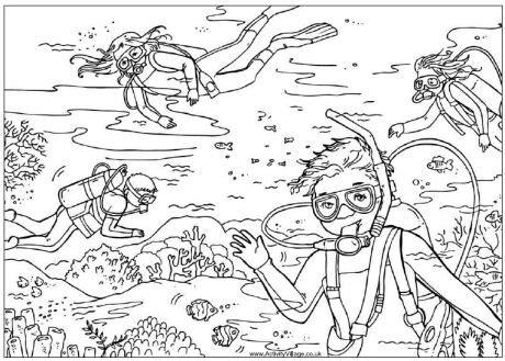 secret garden coloring book south africa disegni da colorare in vacanza bambini che nuotano