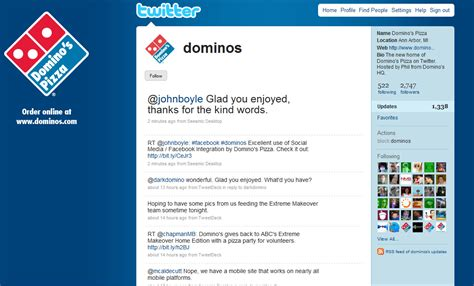 domino pizza twitter socialnext domino s pizza