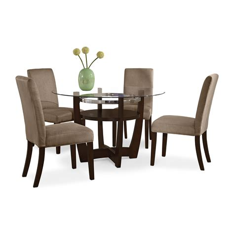 alcove beige dining room 5 pc dinette value city furniture