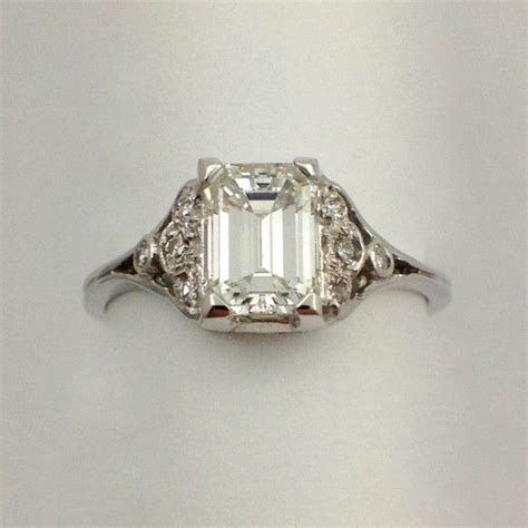 antique emerald cut ring my style