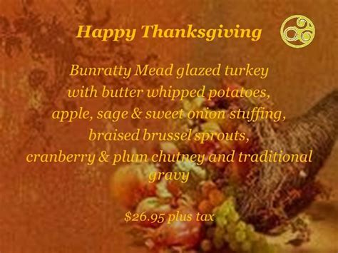 disney worlds raglan road offers special thanksgiving meal