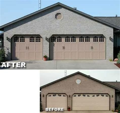 Garage Door Styles For Ranch House by Decorative Windows Garage Doors And Brick Ranch Houses On
