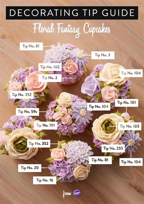 buttercream piping 101 decorating tips designs de 20 bedste id 233 er inden for wilton tips p 229 spr 248 jteteknik cupcakes med blomster og