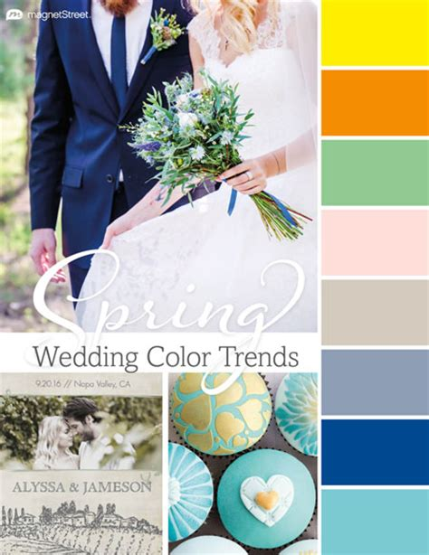 2016 wedding color trends spring summer fall