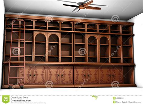 fashioned wooden bookcase stock illustration image