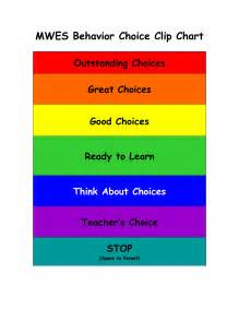 9 best images of good choices chart behavior clip chart