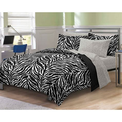 Zebra Print Comforter Sets by Zebra Print Bedding Set Animal Stripes Comforter And Sheets