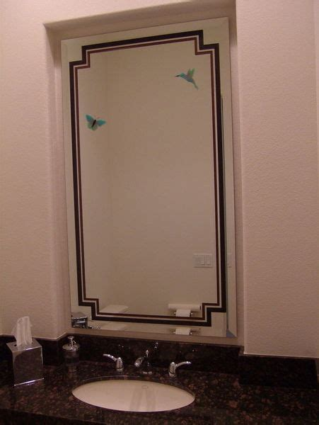 etched bathroom mirrors custom etched and carved bathroom mirrors sans soucie