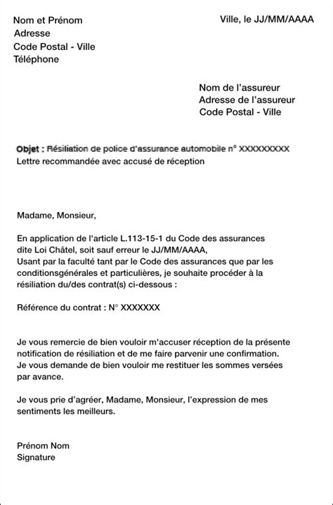 Modèle De Lettre De Résiliation Keep Cool Sle Cover Letter November 2015