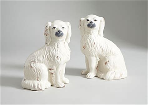 Chelsea House Comfort Dogs Pair Curly Staffordshire Stye Dogs 380762