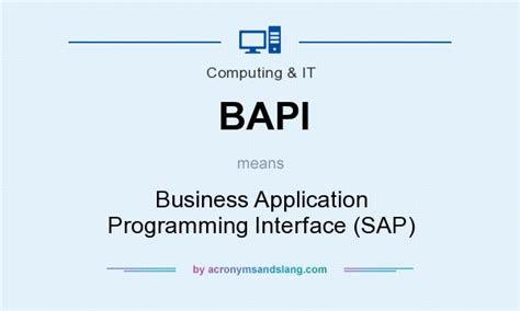 bapi business application programming interface sap in