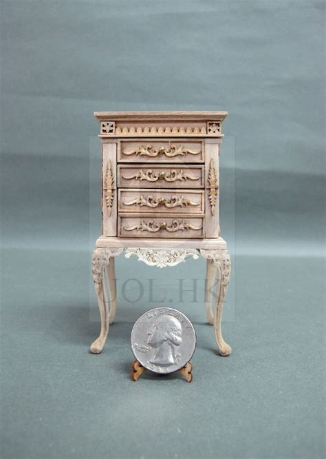 Unfinished Jewelry Armoire by Miniature 1 12 Scale Luxurious High Jewelry Armoire