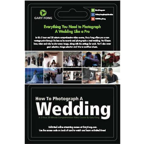 Bhphotovideo Gift Card - gary fong online course how to photograph a wedding gc crs we