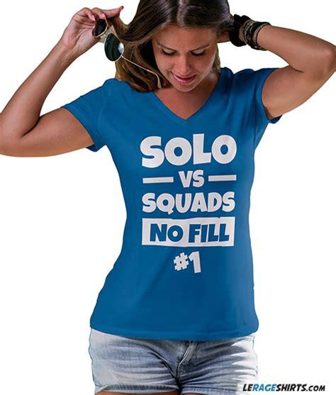 fortnite t shirt vs squads no fill fan made fortnite shirt by lerage