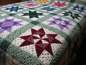 motif square bedspread crochet kingdom