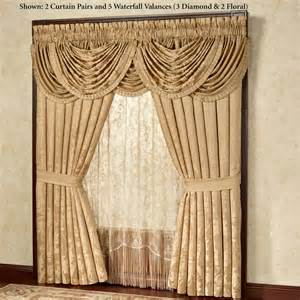 waterfall valance corsica gold waterfall valance window treatment