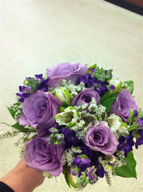 Prom Bouquets by Prom Nosegay With Lavender Roses Purple Stock White