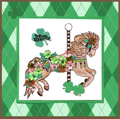 rubber st carousel scrapping by design 187 st patricks day