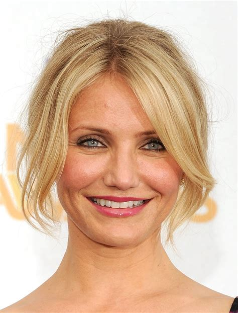 tied up hairstyles for round face cameron diaz tells us women want to be objectified