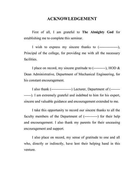 Acknowledgement Letter Graduation Best Acknowledgements Dissertation
