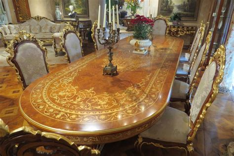 High Top Dining Room Table Sets 10 Luxury Dining Furniture Exquisite Boulle Marquetry