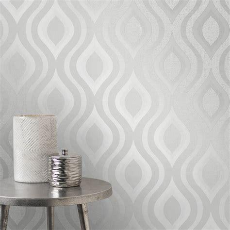 glitter wallpaper decor fine decor quartz geo silver glitter wallpaper fd41968