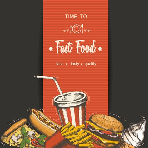 fast food poster vectors template material