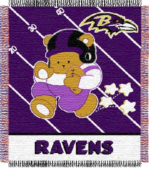 baltimore ravens l shade baltimore ravens nfl baby 36 quot x 46 quot woven jacquard