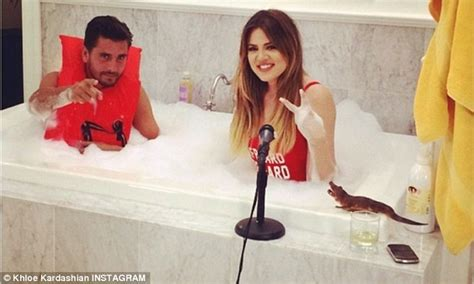 khloe kardashian candy bathtub video scott disick takes a bubble bath with khloe kardashian
