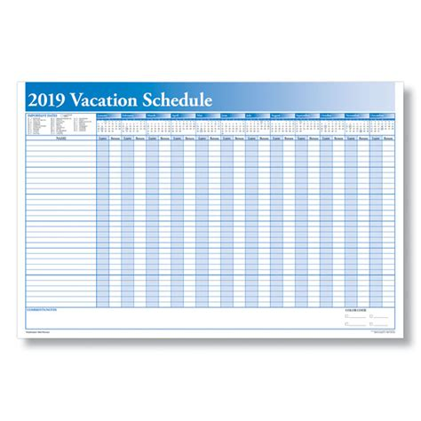 yearly vacation calendar template schedule employee time with a yearly vacation scheduler