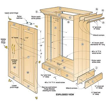 woodwork furniture floor plans pdf plans 3 assorted cabinet plans you can try your hands on