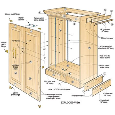 Kitchen Cabinet Woodworking Plans 3 assorted cabinet plans you can try your hands on